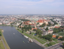 KRAKOW - view from a balloon (by Adam Biernat)