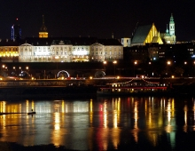 WARSAW - night view (by Arkadiusz Parulski)